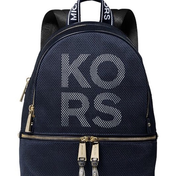 Michael Kors Handbags - NWT Michael Kors Backpack, Navy Blue